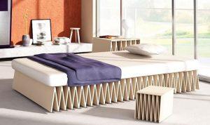 folding cardboard bed