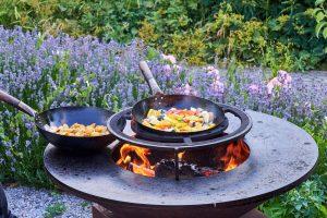 outdoor cooking dinner