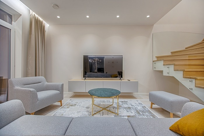 rearranged furniture