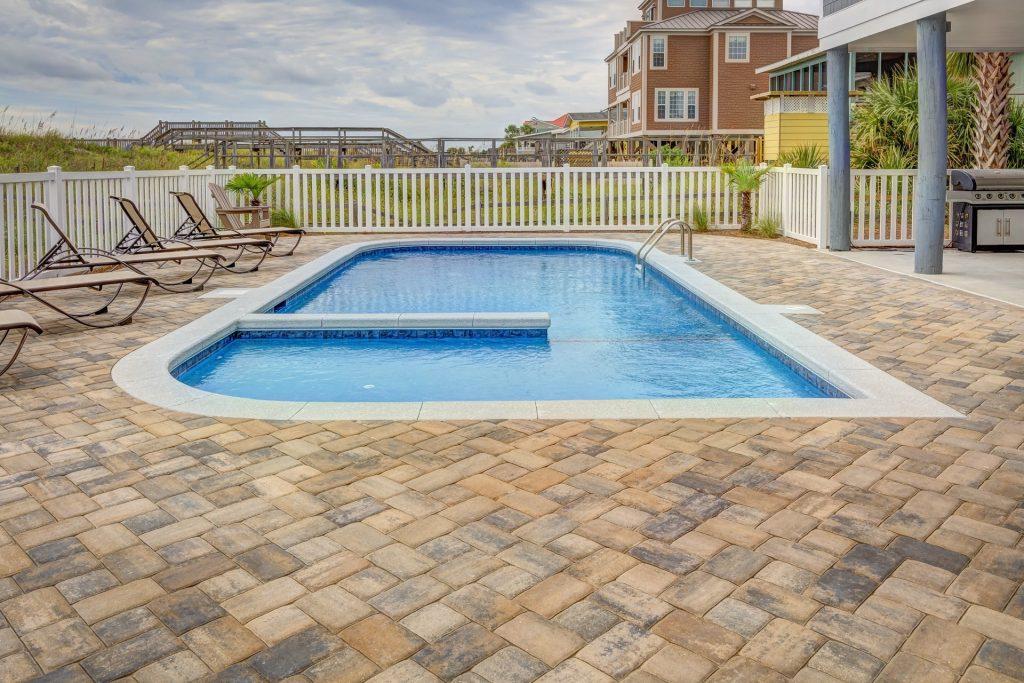 oval rectangle backyard pool