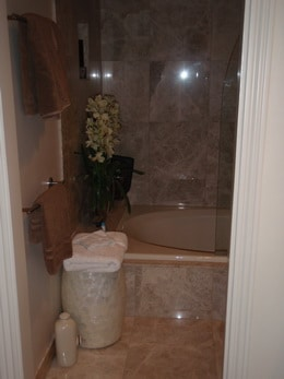 remodeled bathtub and shower