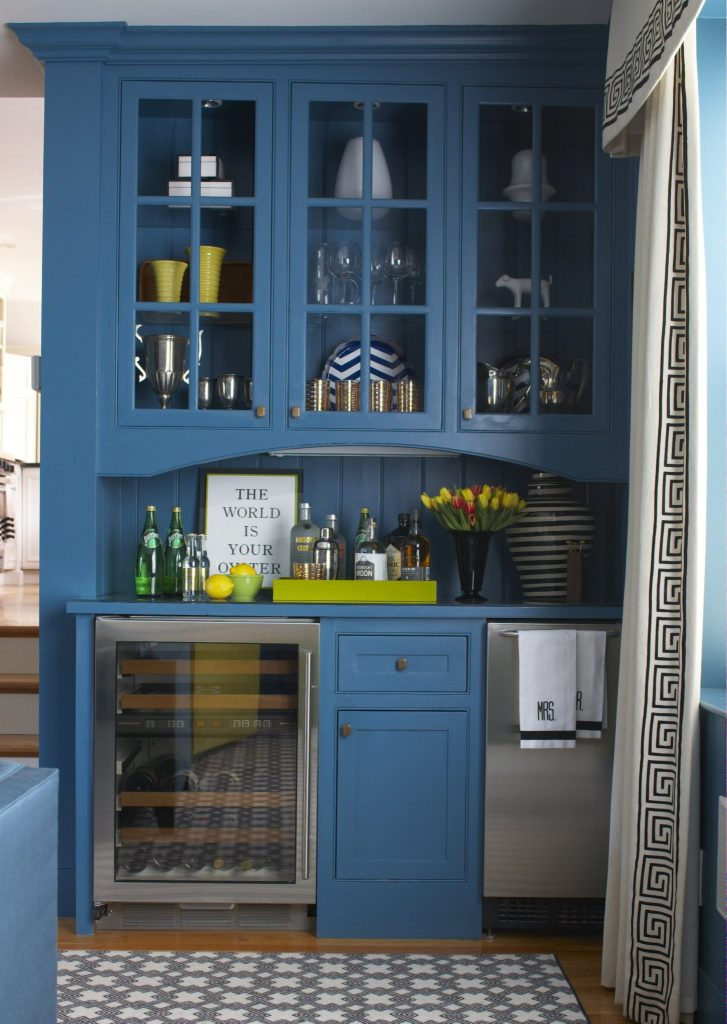 blue pantry bar