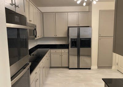 remodeled kitchen in dallas with stainless steel appliances