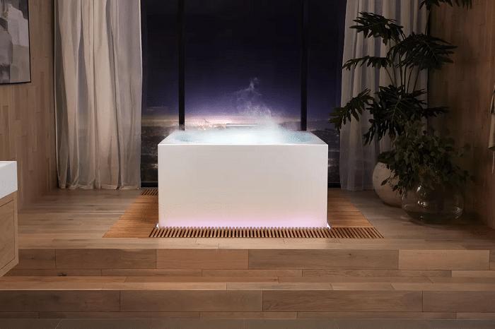 kohler stillness bath with fog