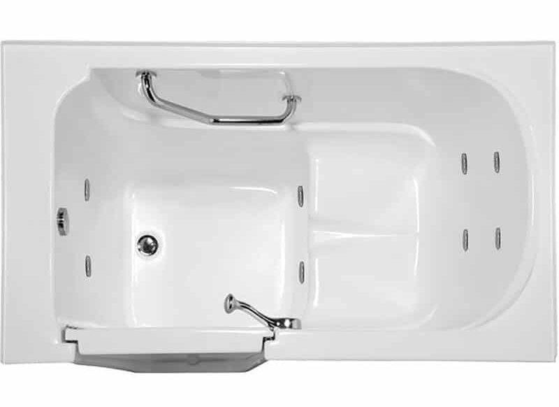 "WAL5230GCO-WHI Life Style 52"" x 30"" Walk in Combination Acrylic Bathtub"