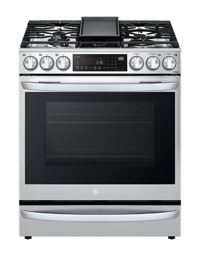 LG smart oven stovetop range